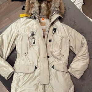 PARAJUMPER Beige Long Coat